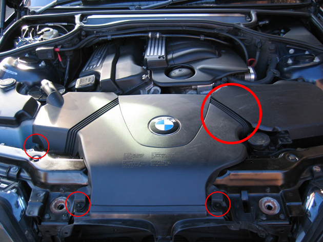 BMW Engine Cover Removal
