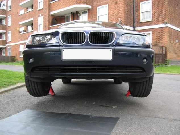 BMW on Jack Stands